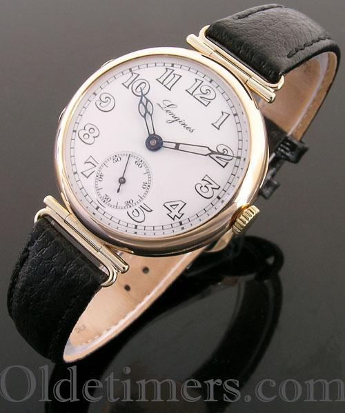 1920s 9ct gold round vintage Longines watch