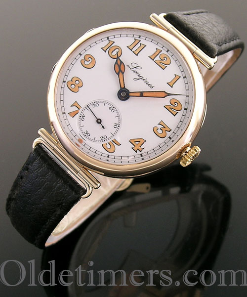 1920s 9ct gold round vintage Longines watch (3913)