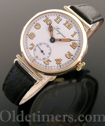 1920s 9ct gold round vintage Longines watch