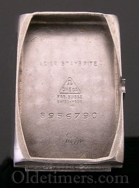 1930s steel rectangular vintage Omega watch