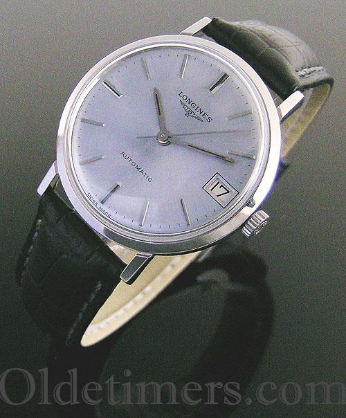 1960s steel round vintage Longines watch (3639)