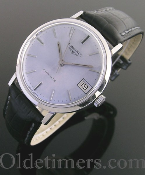 1960s steel round vintage Longines watch