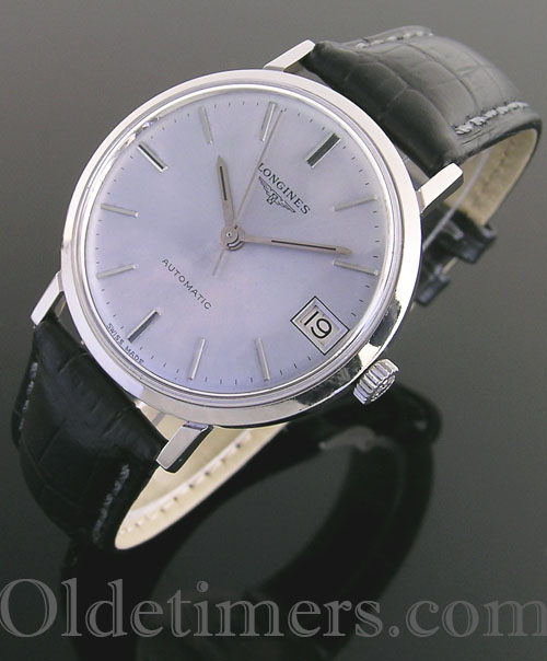 1960s steel round vintage Longines watch (3639)