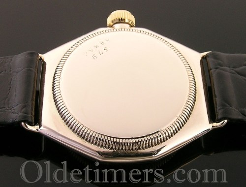 1930s 9ct gold octagonal vintage Rolex Oyster watch