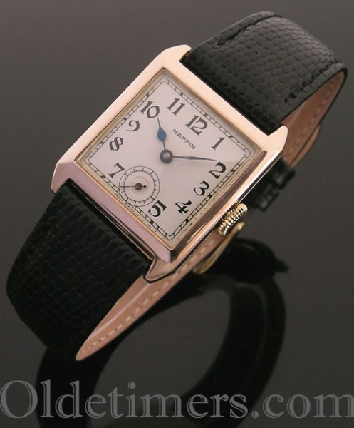1920s 9ct gold square vintage Mappin watch