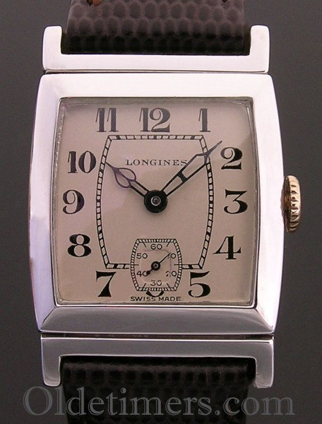 1920s silver rectangular vintage Longines watch