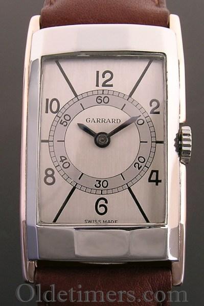 1940s gold & steel rectangular vintage Garrards watch