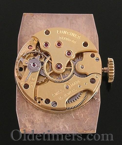 1930s 9ct gold tonneau vintage Longines watch
