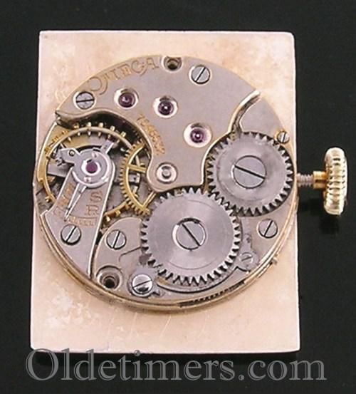 1930s 18ct gold rectangular vintage Omega watch