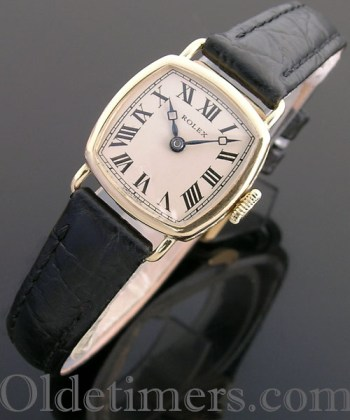 1920s 18ct gold ladies square vintage Rolex watch