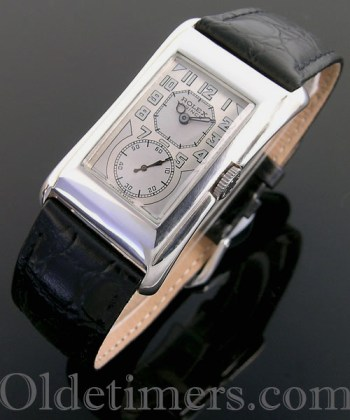1930 silver vintage Rolex Prince 'Brancard' watch