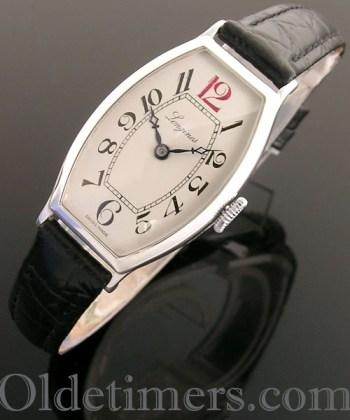 1920s silver tonneau vintage Longines watch