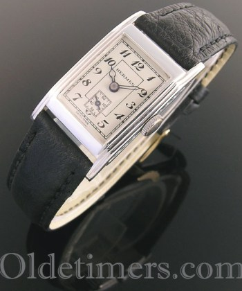 1930s rectangular silver vintage Hermes watch