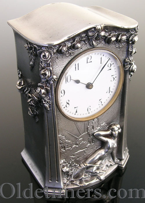 1920s 8-day miniature Carriage or 'Boudoire' clock