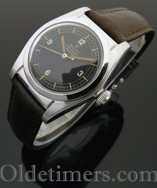 1940s steel vintage Rolex Oyster 'Bubbleback' watch (3956)