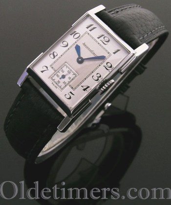 1930s steel rectangular vintage Jaeger LeCoultre watch