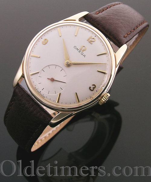 1950s 9ct gold round vintage Omega watch