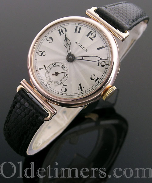 1920s 9ct rose gold round ladies vintage Rolex watch (3910)