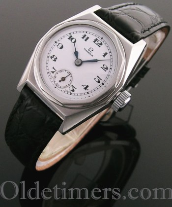 1930s steel octagonal vintage Omega watch