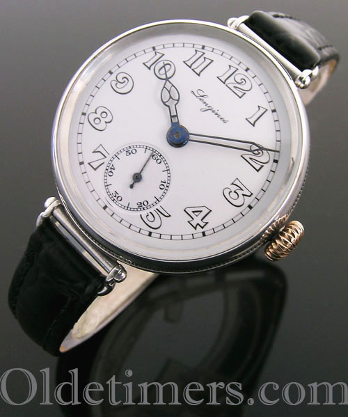 1920s round silver vintage Longines watch (3807)
