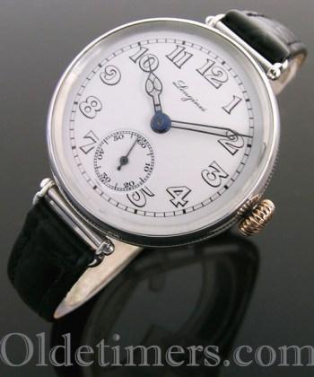 1920s round silver vintage Longines watch