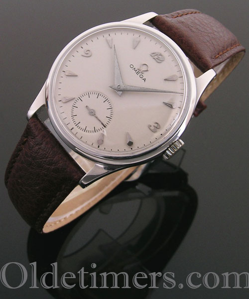1950s round steel vintage Omega watch (4101)