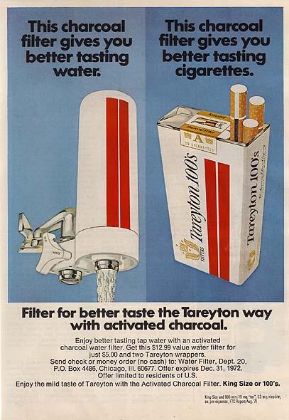 black faucet kitchen bamboo utensils tareyton cigarette ads