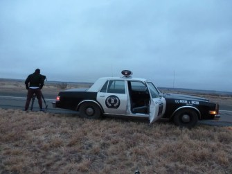 Filming from the support vehicle