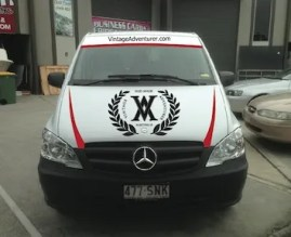 The Mercedes Vito will act as a support vehicle
