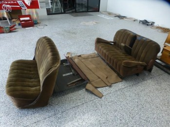 Seats out and stored for the future