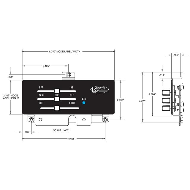 This control panel kit fits 1970-81 Camaro models with and