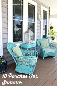 10 Front Porch Decorating Ideas - Vintage American Home
