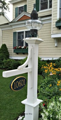 Outdoor Lamp Post Address Signs. Signature Lamp Post ...