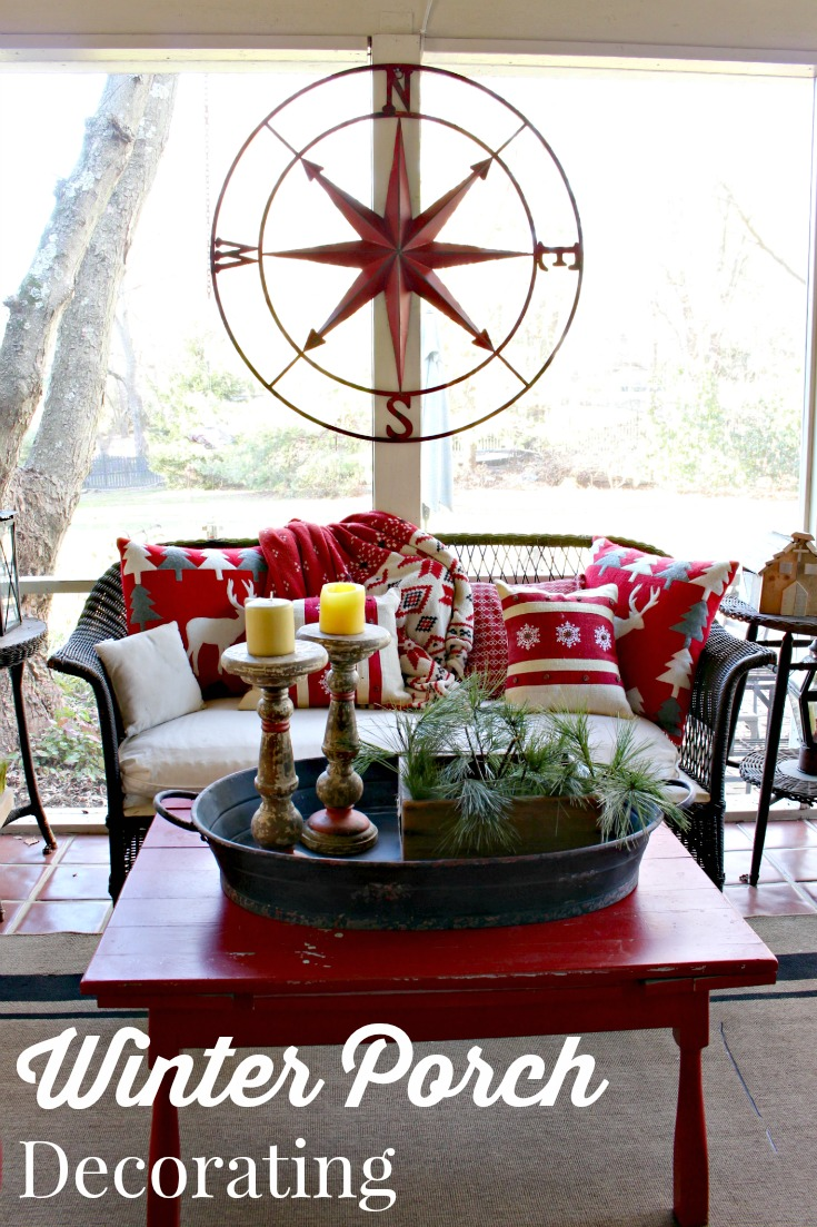 Redecorated My Back Porch for Winter  Vintage American Home