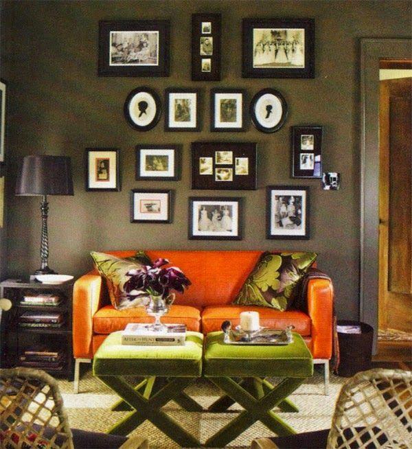 12 ideas para combinar un sof naranja  12 ideas to