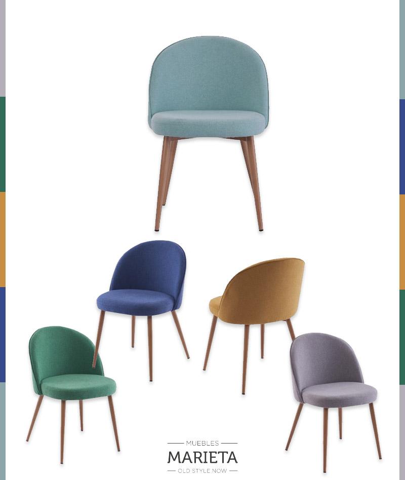 Comedores con sillas desparejadas yo tapizadas en color