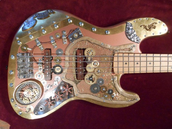 Steampunk Bass Guitar Art