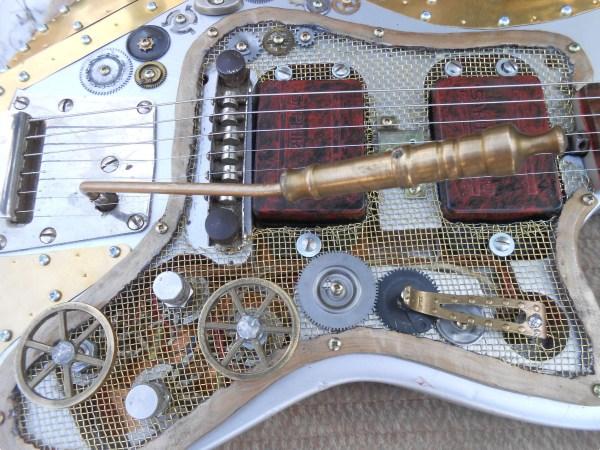 Steampunk Art Relic-stratocaster Custom-1980-silver