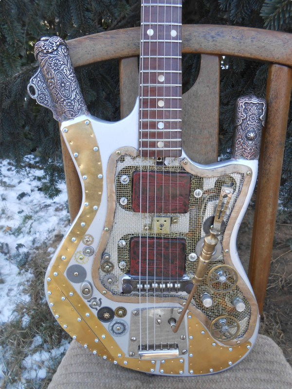 Steampunk Custom Guitar Art