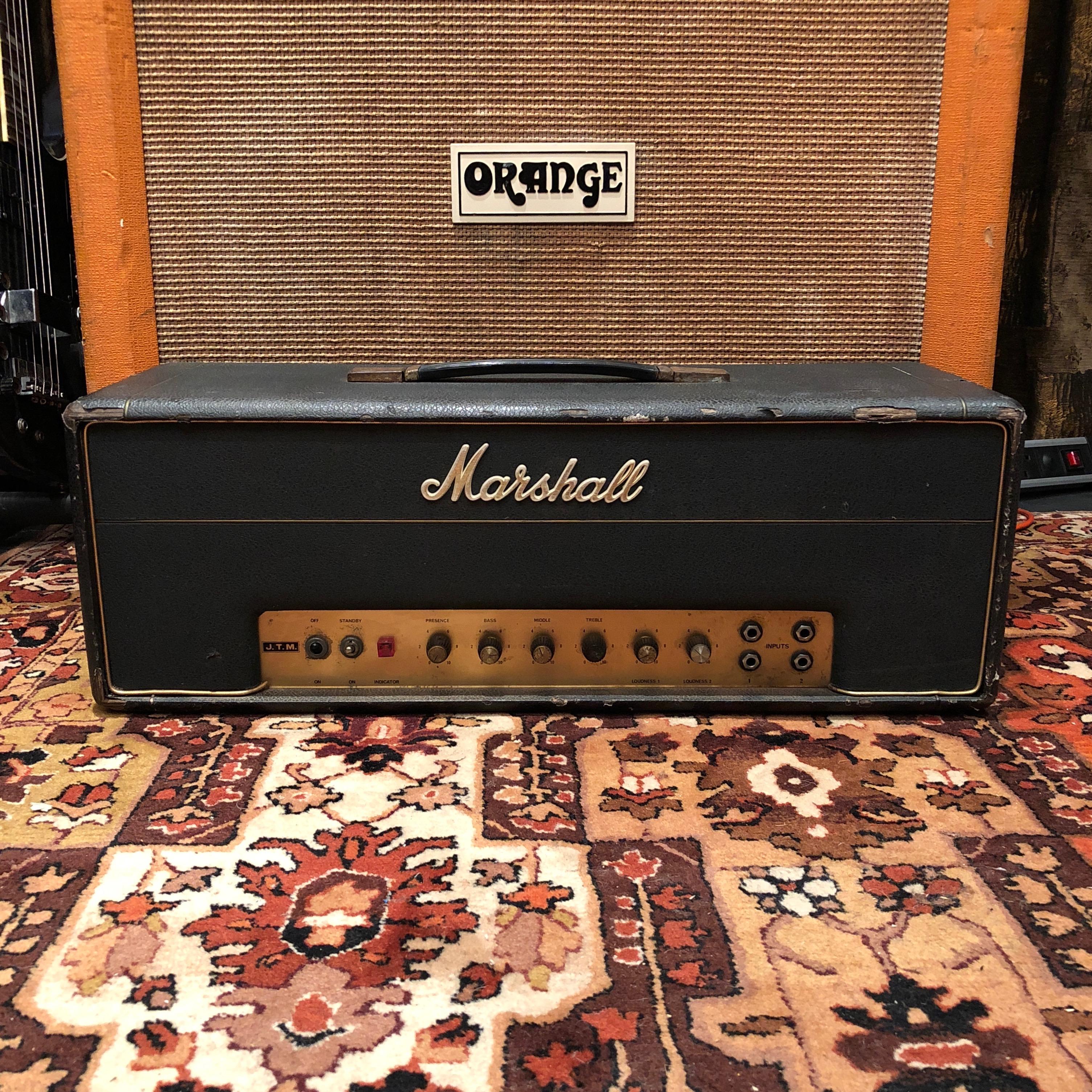 marshall vintage 1967 marshall jtm50 50w black flag plexi amplifier head  [ 3010 x 3010 Pixel ]