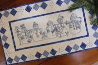 Snow Happens Redwork Quilt Table Runner Pattern by Bird ...