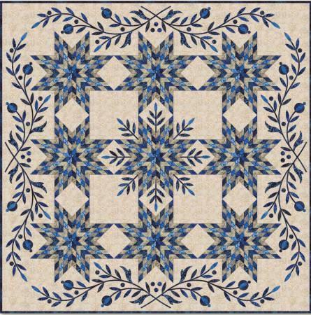 Snowflake Star  Applique Quilt Pattern by Edyta Sitar