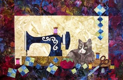 Fall Patterns Wallpaper Sewing Cat Quilt Pattern