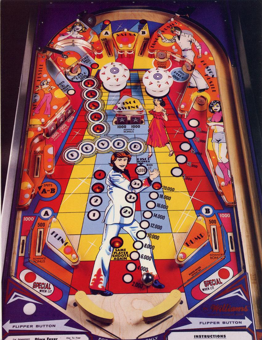 Disco Fever Pinball Machine  Vintage Arcade Superstore