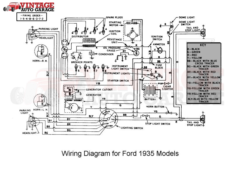 File: 1940 Mercury Wiring Diagram