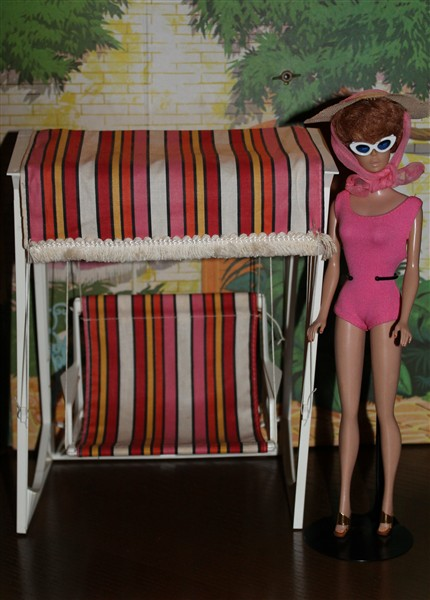 chaise lawn chair leather chairs for sale barbie go-together möbler mm - vintage barbiesamling
