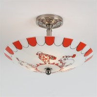 Circus Tent   Vintage Ceiling Light
