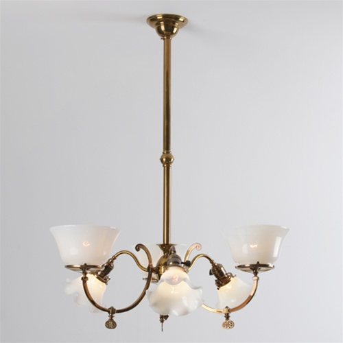 Vintage Early Electric Chandelier