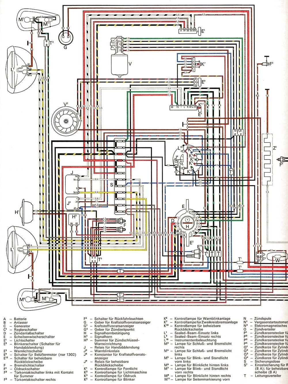 medium resolution of 1971 vw beetle wiring diagram data wiring diagram u2022 rh chamaela co 1967 vw beetle wiring
