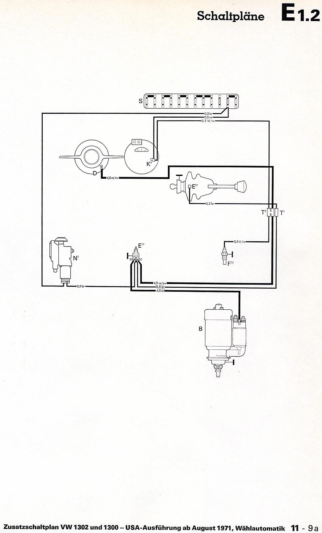 1971 vw bus wiring diagram